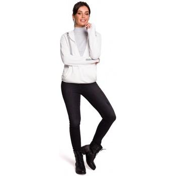 Textil Mulher Sweats Be B127 Pára-choques dianteiros com capuz - ecru