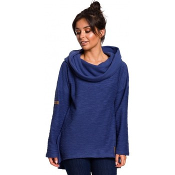 Textil Mulher Sweats Be B131 Pull-over de colarinho alto - anil