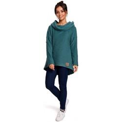 Textil Mulher Sweats Be B131 Pullover de colarinho alto - turquesa
