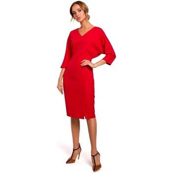 Textil Mulher Vestidos curtos Moe M464 Vestido de manga de batting - vermelho
