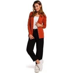 Textil Mulher camisolas Style S198 Cardigan com botões de pressão - gengibre