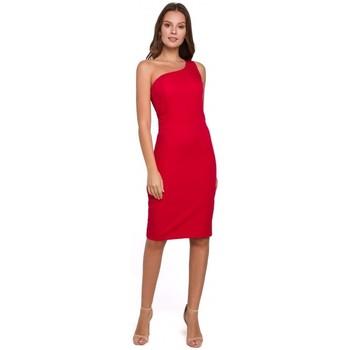 Textil Mulher Vestidos curtos Makover K004 Vestido a lápis com pescoço em V - preto