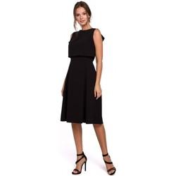 Textil Mulher Vestidos curtos Makover K006 Vestido de malha com detalhes em alcatifa - urze