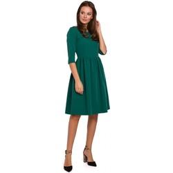 Textil Mulher Vestidos curtos Makover K010 Vestido de cintura recolhida com cintura - verde
