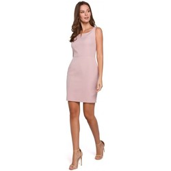 Textil Mulher Vestidos Makover K022 Mini vestido com decote quadrado - rosa crepado