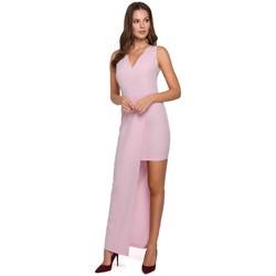 Textil Mulher Vestidos Makover K026 Vestido comprido assimétrico - lilás