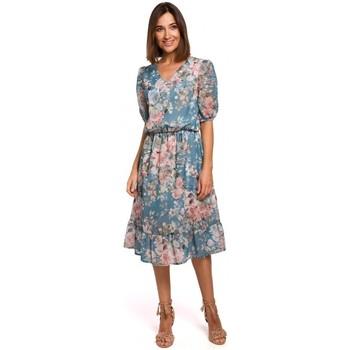Textil Mulher Vestidos curtos Style S215 Vestido Chiffon com bainha desbotada - modelo 4