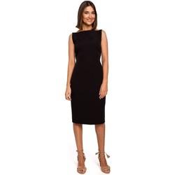 Textil Mulher Vestidos curtos Style S216 Vestido de lápis sem mangas - preto