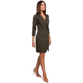 Textil Mulher Vestidos Style S217 Blazer dress - cáqui