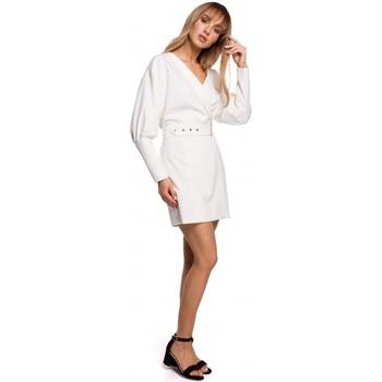 Textil Mulher Vestidos curtos Moe M501 Mini vestido de manga insuflável - ecru