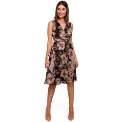 Textil Mulher Vestidos Style S225 Vestido de chiffon com decote de mergulho - modelo 4