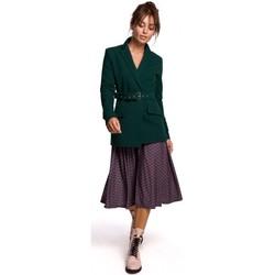 Textil Mulher Blazers Be B159 Blazer de cinto de fivela - azul-marinho