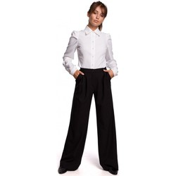 Textil Mulher Calças Be B164 Calças de perna larga - preto
