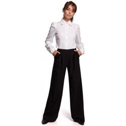 Textil Mulher camisas Be B165 Camisa de manga insuflável - branca