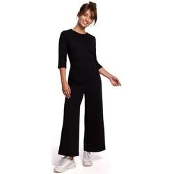 Textil Mulher Macacões/ Jardineiras Be B174 Fato de salto com perna larga - preto