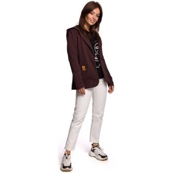 Textil Mulher Casacos/Blazers Be B180 Blazer com capuz em malha de algodão - castanho