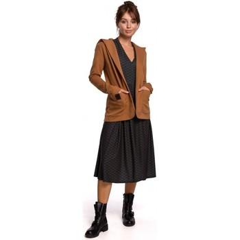 Textil Mulher Casacos/Blazers Be B180 Blazer com capuz em malha de algodão - caramelo