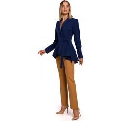 Textil Mulher Casacos/Blazers Moe M529 Casaco de cauda - azul-marinho