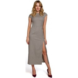 Textil Mulher Vestidos compridos Makover K071 Vestido midi Gingham - castanho