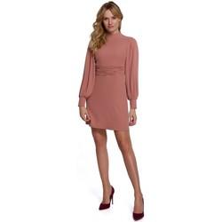 Textil Mulher Vestidos curtos Makover K077 Vestido com folho flamenco - rosa
