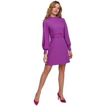 Textil Mulher Vestidos curtos Makover K077 Vestido com folho flamenco - lavanda