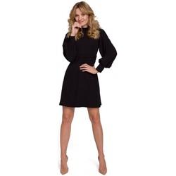 Textil Mulher Vestidos curtos Makover K077 Vestido com folho flamenco - preto