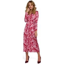 Textil Mulher Vestidos compridos Makover K083 Vestido de embrulho floral - modelo 2