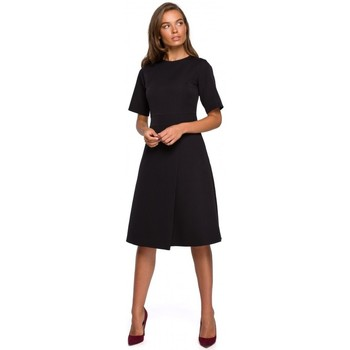 Textil Mulher Vestidos curtos Style S240 Embrulho vestido frontal - vermelho