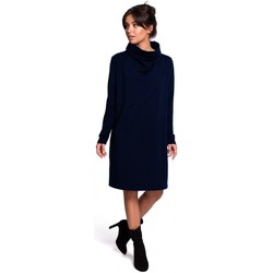Textil Mulher Vestidos curtos Be B132 Vestido de colarinho alto - granatowy