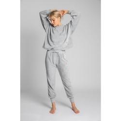 Textil Mulher Calças de treino Lalupa LA004 Jogadores de Malhas Fluffy - cinza claro