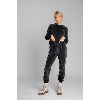 Textil Mulher Calças de treino Lalupa LA012 Velvet Joggers - grafite