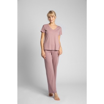 Textil Mulher Tops / Blusas Lalupa LA014 Algodão V-Neck Top - urze
