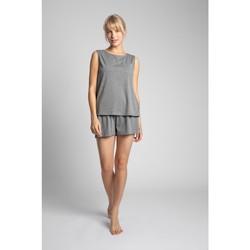 Textil Mulher Tops / Blusas Lalupa LA015 Top sem mangas de algodão - cinzento