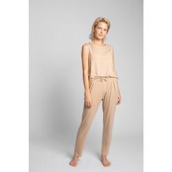 Textil Mulher Pijamas / Camisas de dormir Lalupa LA025 Fundos de viscose Pyjama - cappuccino