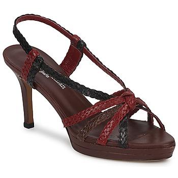 Sapatos Mulher Sandálias Stéphane Kelian PRISCILLE Castanho / Vermelho