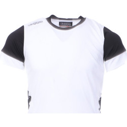 Textil Rapaz T-Shirt mangas curtas Kappa  Branco