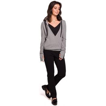 Textil Mulher Sweats Be B127 Pára-choques dianteiros com capuz - cinzento