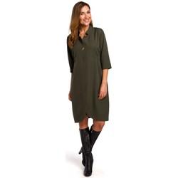 Textil Mulher Vestidos curtos Style S189 Blazer dress - cáqui