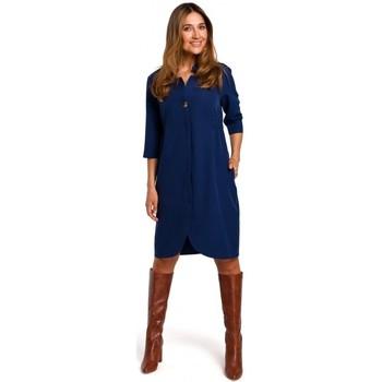 Textil Mulher Vestidos curtos Style S189 Blazer dress - azul-marinho