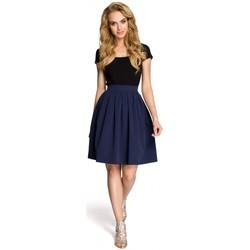 Textil Mulher Saias Moe M237 Saia - azul-marinho