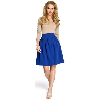 Textil Mulher Saias Moe M237 Saia - azul real