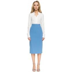 Textil Mulher Saias Style S065 Saia midi lápis - azul