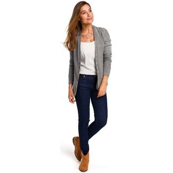 Textil Mulher Tops / Blusas Style S198 Cardigan com botões de pressão - cinzento