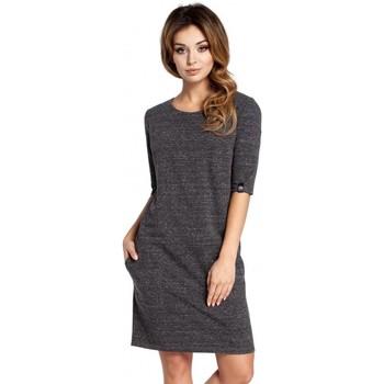 Textil Mulher Vestidos Be B033 Vestido de mudança de caixa - grafite