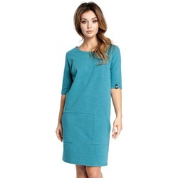Textil Mulher Vestidos curtos Be B033 Vestido de mudança de caixa - esmeralda