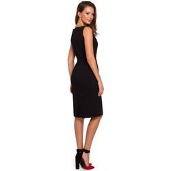 Textil Mulher Vestidos Makover K004 Vestido a lápis com pescoço em V - cinzento pomba