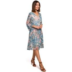Textil Mulher Vestidos curtos Style S214 Vestido Chiffon com cintura baixa - modelo 4