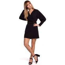 Textil Mulher Vestidos curtos Moe M501 Mini-vestido de manga de Puff - preto