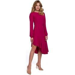 Textil Mulher Vestidos compridos Makover K077 Vestido com folho flamenco - ameixa