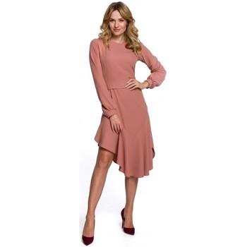 Textil Mulher Vestidos compridos Makover K077 Vestido com folho flamenco - rosa